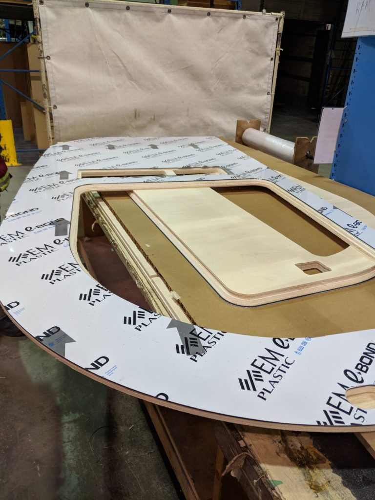 cnc laminated panels before assembly